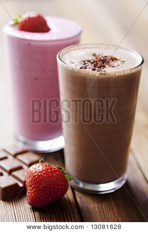Chocolate And Strawberry Milkshake
