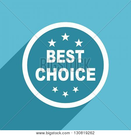 best choice icon, flat design blue icon, web and mobile app design illustration