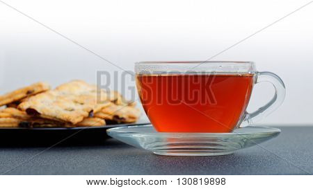 Cup Of Tea And Puff Pastry