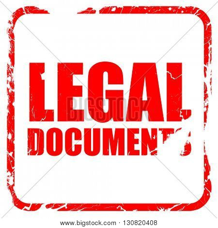 legal documents, red rubber stamp with grunge edges