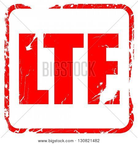 lte, red rubber stamp with grunge edges