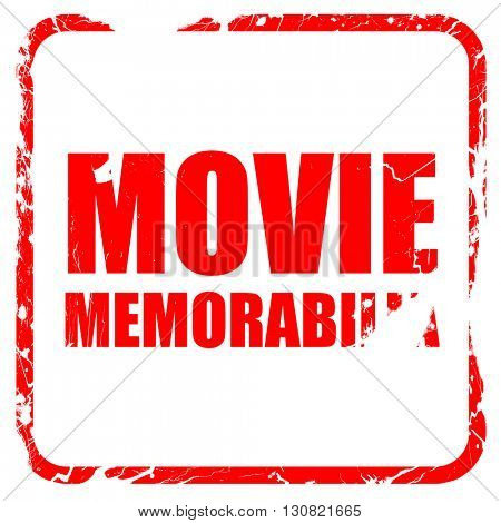 movie memorabilia, red rubber stamp with grunge edges