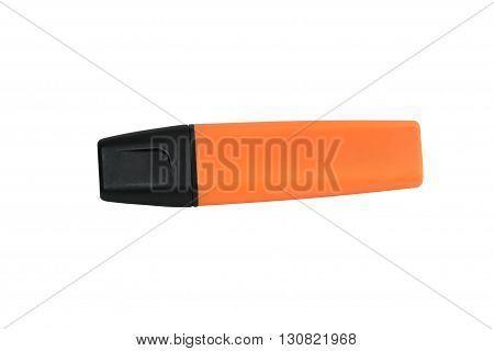 image of orange marker isolated on white background