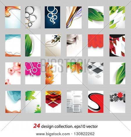 collection of 24 different conceptual design. eps10 vector