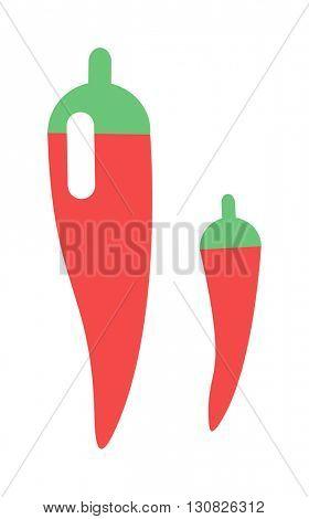 Red pepper vector illustration.