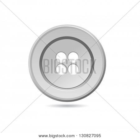 gray sewing button icon