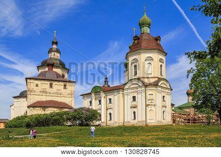 Kirillov, Russia - May 28: This is back yard of Kirillo-Belozersky Monastery May 28, 2013 in Kirillov, Russia.