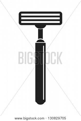 shave razor black icon