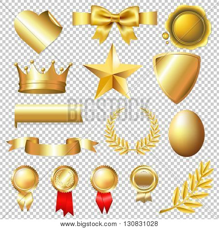 Golden Collection, Isolated on Transparent Background