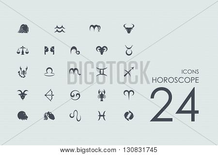 Horoscope vector set of modern simple icons