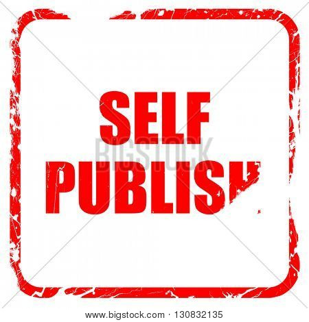 self publishing, red rubber stamp with grunge edges