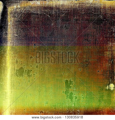 Grunge texture, scratched surface or vintage background. With different color patterns: yellow (beige); brown; green; red (orange); purple (violet); pink