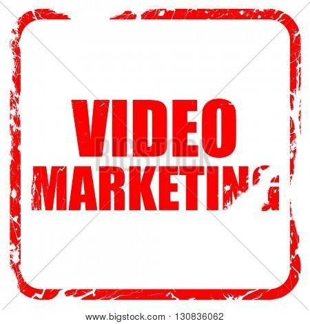 video marketing, red rubber stamp with grunge edges