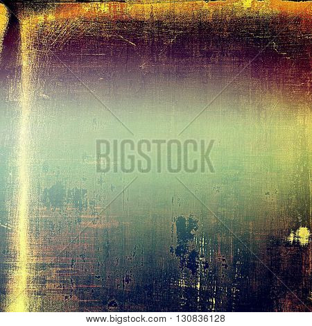 Grunge design composition over ancient vintage texture. Creative background with different color patterns: yellow (beige); brown; green; blue; red (orange); purple (violet)