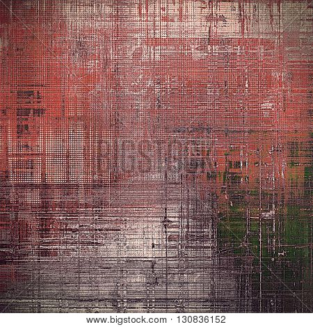 Grunge scratched background, abstract vintage style texture with different color patterns: brown; green; red (orange); gray; black; pink