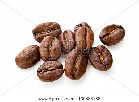 Coffee. Coffee beans isolated on white background