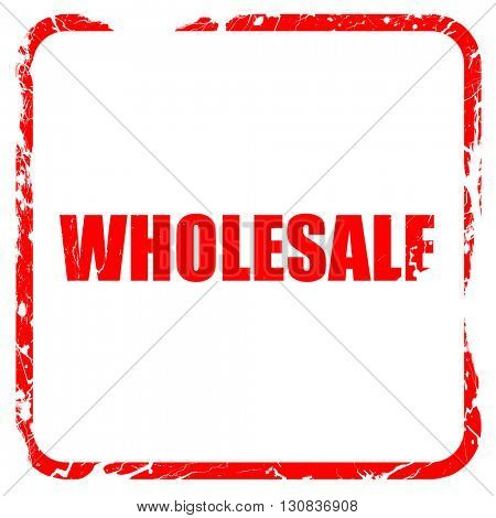 wholesale, red rubber stamp with grunge edges