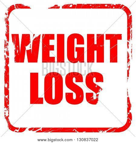 weight loss, red rubber stamp with grunge edges