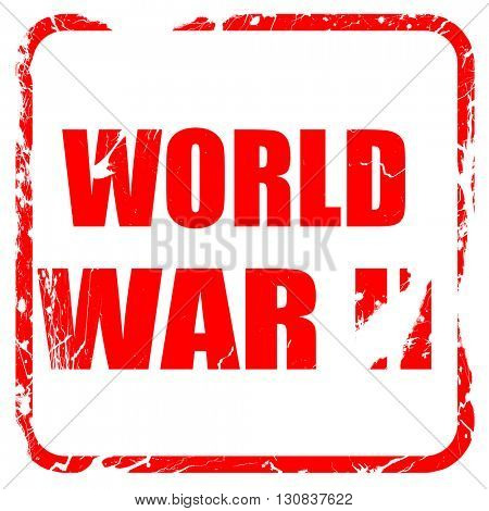 World war 2 background, red rubber stamp with grunge edges