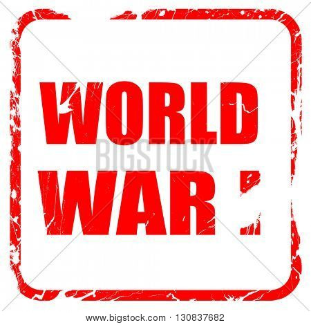 World war 1 background, red rubber stamp with grunge edges