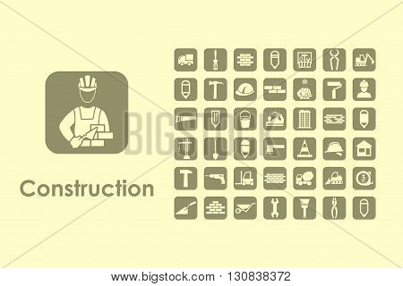 It is a set of construction simple web icons