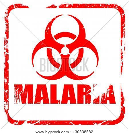 malaria concept background, red rubber stamp with grunge edges