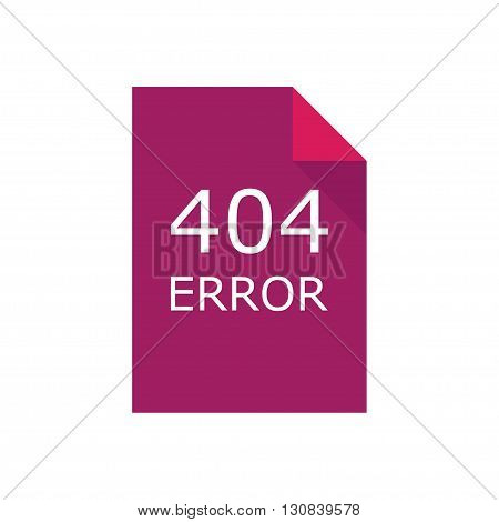 404 error. file is damaged Vector illustration.