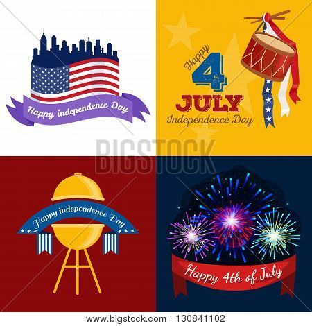 Happy 4th of July, Independence Day Vector Design, usa illustration
