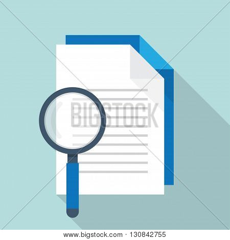 flat Vector icon - illustration of document Search icon isolated