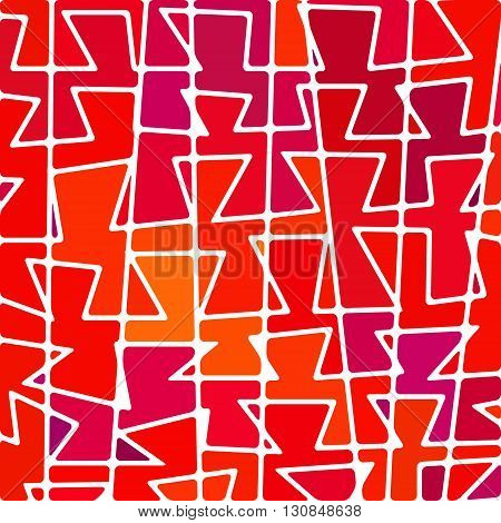 abstract vector stained-glass mosaic background - red orange and purple