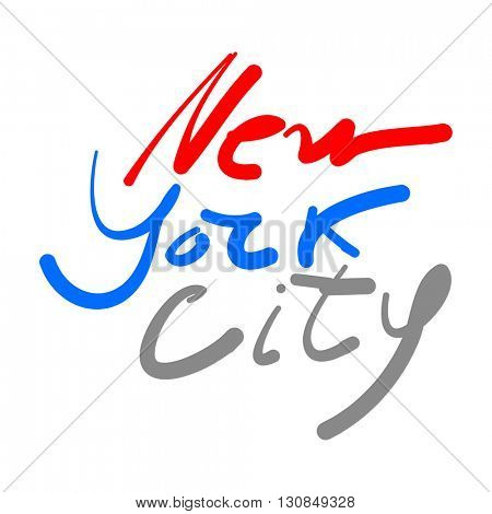 New York city - lettering design. Hand drawn typographic composition.