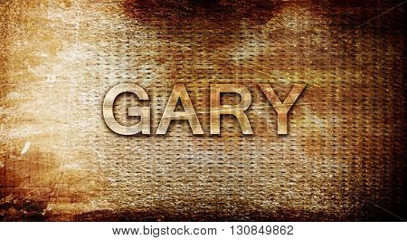 gary, 3D rendering, text on a metal background