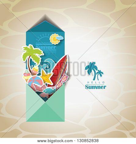 summer scrapbook. Holidays background