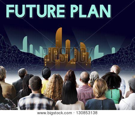 Fururistic Future Plan Urban Structure Concept