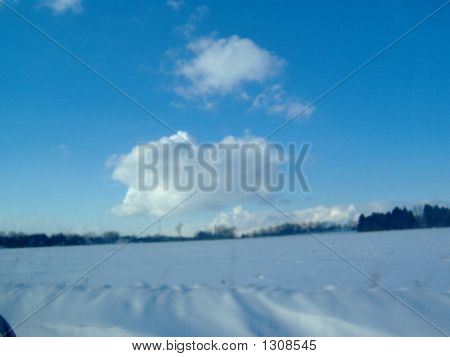 Hovering Over Snow