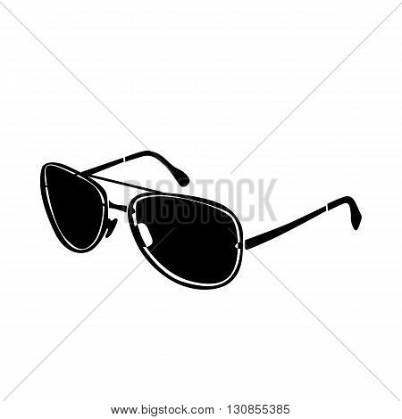 Brutal glasses icon in simple style isolated on white background. Accessories  symbol
