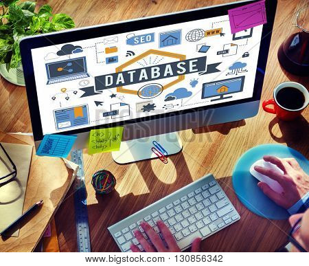 Database Computer System Digital Storage Concept