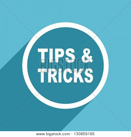 tips tricks icon, flat design blue icon, web and mobile app design illustration