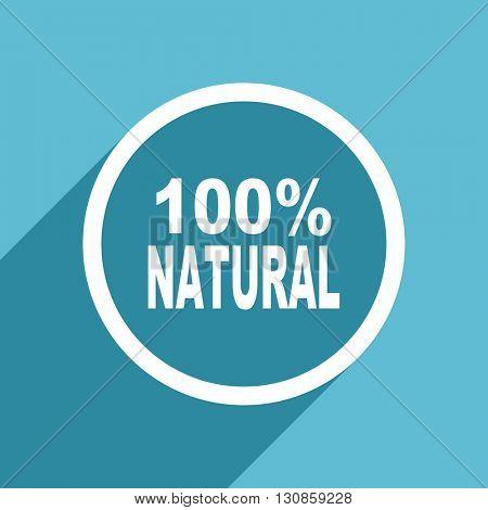 natural icon, flat design blue icon, web and mobile app design illustration