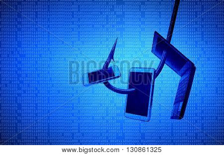 phishing attack on smartphone, tablet, and laptop computer