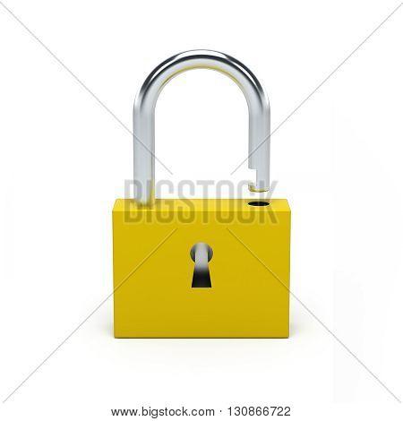 Unlocked Yellow Lock.