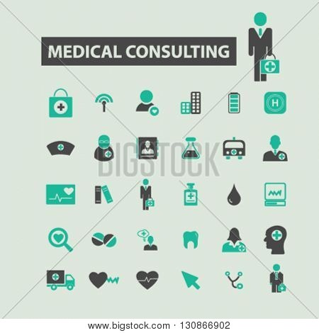 medical consulting icons