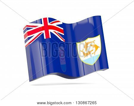 Wave Icon With Flag Of Anguilla