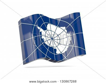 Wave Icon With Flag Of Antarctica