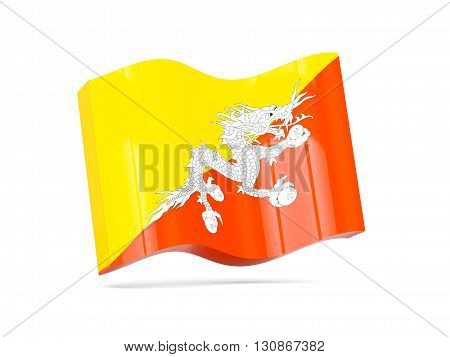 Wave Icon With Flag Of Bhutan