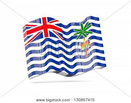 Wave Icon With Flag Of British Indian Ocean Territory