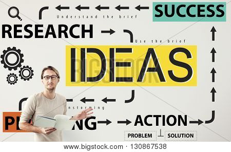 Ideas Success Research Planning Action Concept