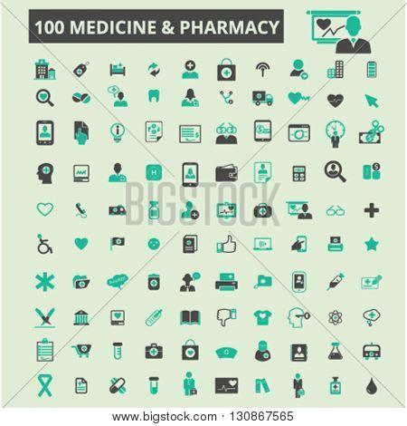 medicine pharmacy icons