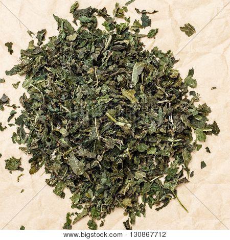 Heap Of Dry Nettle Tea Leaves