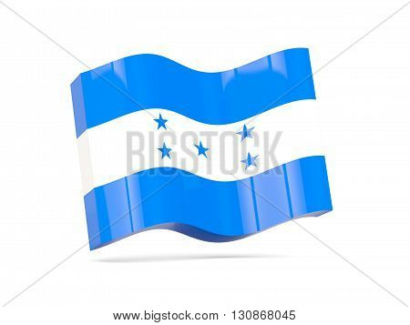Wave Icon With Flag Of Honduras